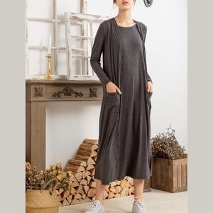 Simple by Suzanne Betro Ribbed Knit Duster